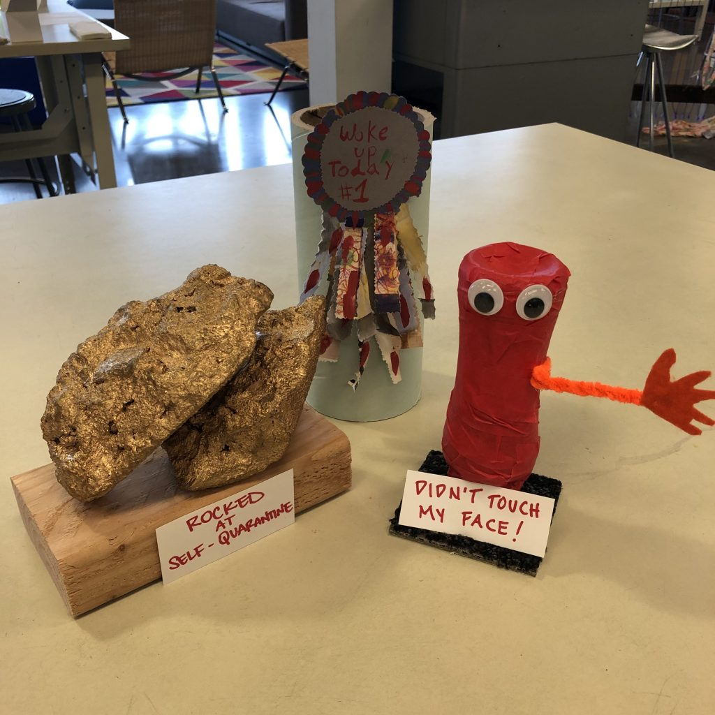 Awards created from random materials for funny things.